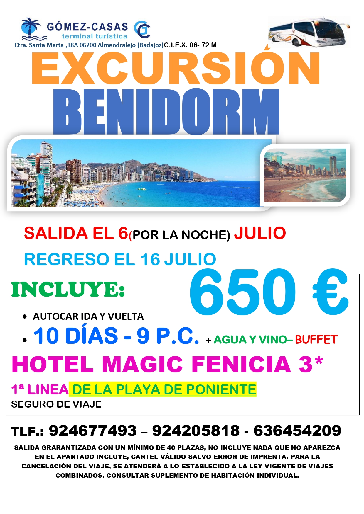 BENIDORM H.MAGIC FENICIA 10 DÍAS